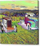 Antique Vehicles Canvas Print