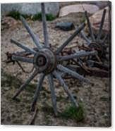 Antique Wagon Wheel Canvas Print