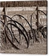 Antique Wagon Wheels I Canvas Print