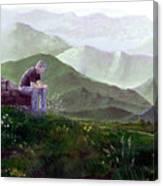Antonio Atop La Rocca De Monte Calvo Canvas Print