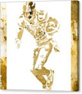 Antonio Brown Pittsburgh Steelers Water Color Art 4 Canvas Print