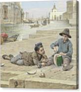 Antonio Ermolao Paoletti The Melon Sellers Canvas Print