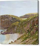 Antsey's Cove South Devon Canvas Print