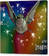 Anything Is Possible With Imagination  Rainbow Canvas Print