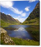 Aonach Eagach Ridge Glencoe Canvas Print