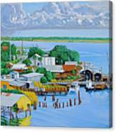 Apalachicola Waterfront Canvas Print