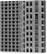 Apartment Buildings As Seen From 59th Street Canvas Print