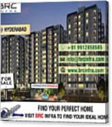 Apartments For Sale In Gachibowli, Manikonda, Hyderabad Canvas Print