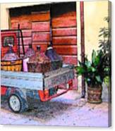 Ape Truck In Tuscany Canvas Print