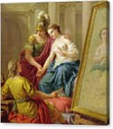 Apelles In Love With The Mistress Of Alexander Canvas Print