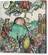 Apocalypse, Nuremberg Chronicle, 1493 Canvas Print