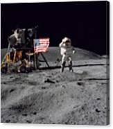 Apollo 16 Astronaut Leaps Canvas Print