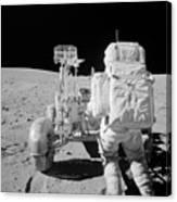 Apollo 16 Astronaut Reaches For Tools Canvas Print