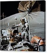 Apollo 17 Astronaut Approaches Canvas Print