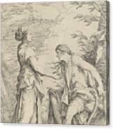 Apollo And The Cumaean Sibyl Canvas Print