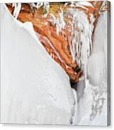 Apostle Islands Frozen Canyon Canvas Print