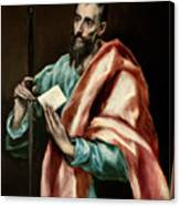 Apostle Saint Paul Canvas Print