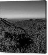 Appalachian Mountains From Mount Mitchell, The Highest Point In  Canvas Print