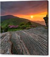 Appalachian Trail Roan Highlands Jane Bald Sunset Landscape Canvas Print