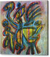 Appel En Mains Libres Canvas Print
