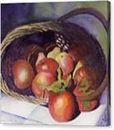 Apple Basket Canvas Print