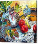 Apple Cat Canvas Print