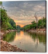 Apple Creek At Dusk Canvas Print