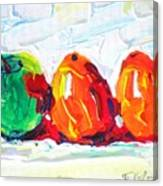 Apple First Canvas Print