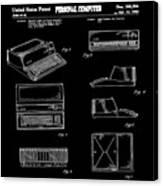 Apple Macintosh Patent 1983 Black Canvas Print