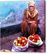 Apple Seller Canvas Print