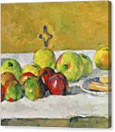 Apples And Biscuits Canvas Print