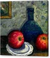 Apples And Bottles Canvas Print