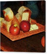 Apples And Bread Canvas Print