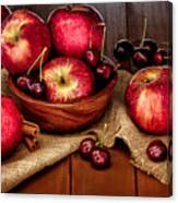 Apples And Cherries Canvas Print