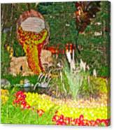 Apples In Autumn In Bellagio Conservatory In Las Vegas- Nevada Canvas Print