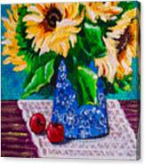 Apples  Sunflowers Canvas Print