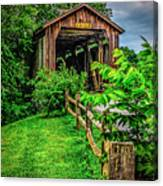 Approach To Hunseckers Mill Bridge Canvas Print