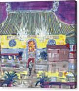 Approaching Dongwu Temple On Chinese New Years Eve Canvas Print