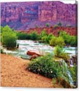 Approaching Navajo Falls Canvas Print