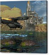 Approaching The Landing Pad Canvas Print