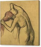 Apres Le Bain Femme S'essuyant Canvas Print