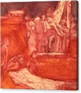Apres Rembrandt Canvas Print