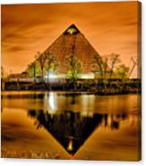 April 2015 - The Pyramid Sports Arena In Memphis Tennessee Canvas Print