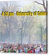 April 20th - University Of Colorado Boulder Canvas Print
