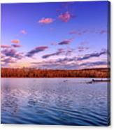 April Evening At The Lake Canvas Print