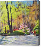 April Morning In Carl Schurz Park Canvas Print