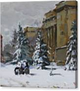 April Snow By The Nacc Canvas Print