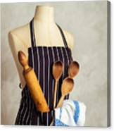Apron With Utensils Canvas Print