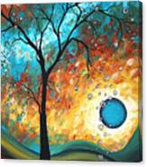 Aqua Burn By Madart Canvas Print