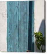 Aqua Door Textures Canvas Print